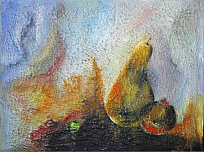 Fruits Mixed Media - Pear And Pearl by Dragica  Micki Fortuna