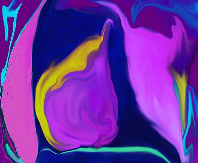 Digital Art - Pear At Twilight by Ian  MacDonald
