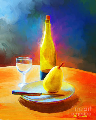 Painting - Pear by Ata Alishahi