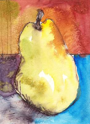 Loose Painting - Pear by Casey Rasmussen White