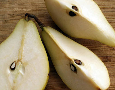 Digital Art - Pear Cut In Three by Jana Russon
