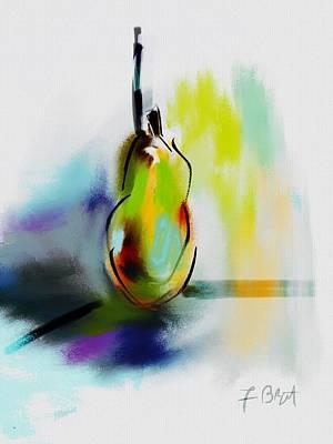 Pear Digital Abstract Original