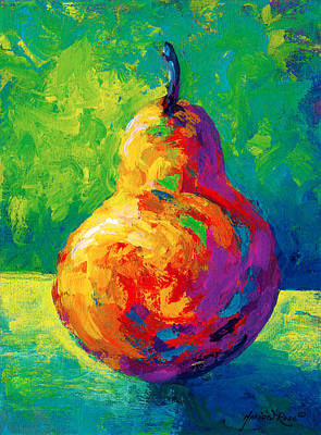 Food And Beverage Wall Art - Painting - Pear II by Marion Rose