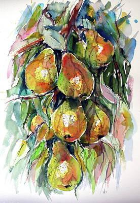 Pears Painting - Pear by Kovacs Anna Brigitta