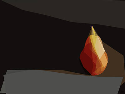 Digital Art - Pear Of Angles by David Pantuso
