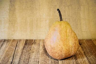 Photograph - Pear On Cutting Board 2.0 by Michelle Calkins