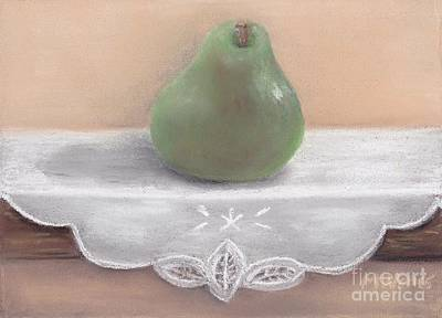 Pastel - Pear On Shelf by Michelle Welles