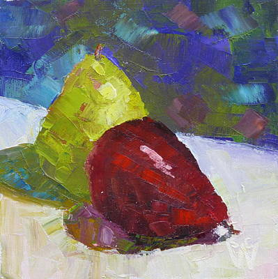 Painting - Pear Pair by Susan Woodward