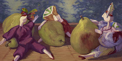 Painting - Pear Partners by Jane Thorpe