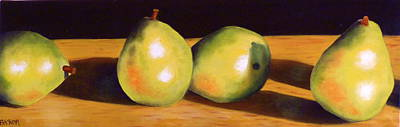 Painting - Pear Party by Susan A Becker