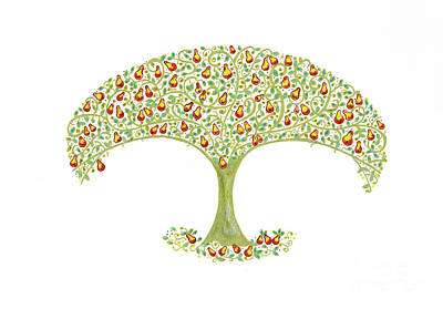 Thinking Of You Drawing - Pear Tree by Arti Caz