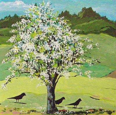 Painting - Pear Tree In Flower by John Williams