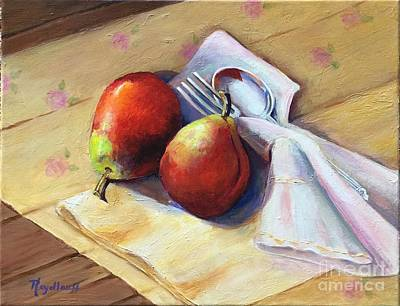 Painting - Pear Twosome by Pat Heydlauff