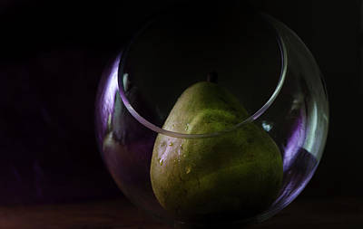 Photograph -  Pear Under Glass -#546 by Rae Ann  M Garrett