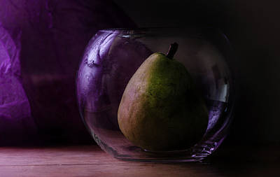 Photograph - Pear Under Glass by Rae Ann  M Garrett