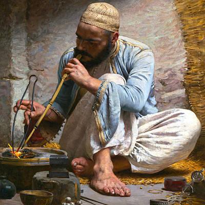 Photograph - Pearce Arab Jeweler by Munir Alawi