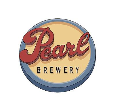 Pearl Brewery Sign Art Print