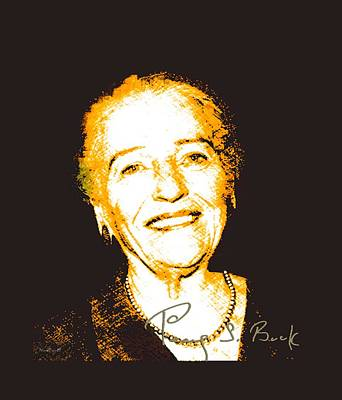 Digital Art - Pearl Buck by Asok Mukhopadhyay