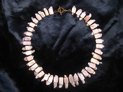 Delica Beads Jewelry - Pearl Collar by Jan Durand