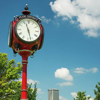 Photograph - Pearl District - Tulsa Oklahoma Centennial Clock by Gregory Ballos