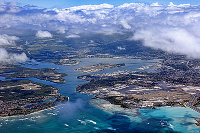 Pearl Harbor Aerial View Art Print