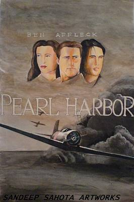 Alfred George Stevens Painting - Pearl Harbor by Sandeep Kumar Sahota