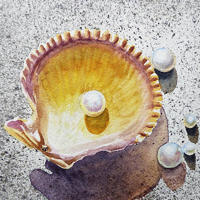 Painting - Pearl In The Seashell by Irina Sztukowski