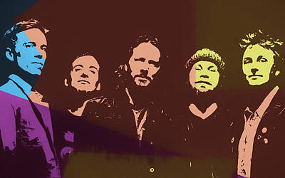 Pearl Jam Pop Art Art Print