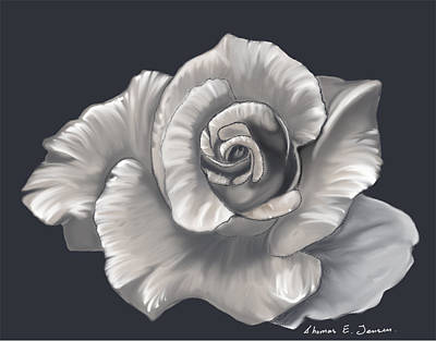 Painting - Pearl Rose by ThomasE Jensen