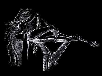 Digital Art - Pearl Violinist  by Movie Poster Prints