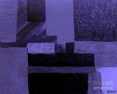Pearlescent Purple Abstract Art Print by Marsha Heiken