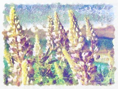 Painting - Pearlesqued In The Mix Floral Scene by Catherine Lott