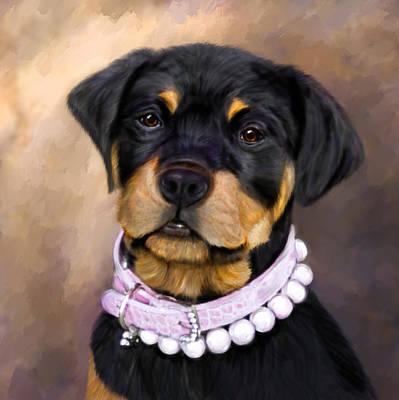 Pearlie Girlie Art Print by Elizabeth Murphy
