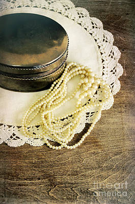 Photograph - Pearls And Box by Jill Battaglia