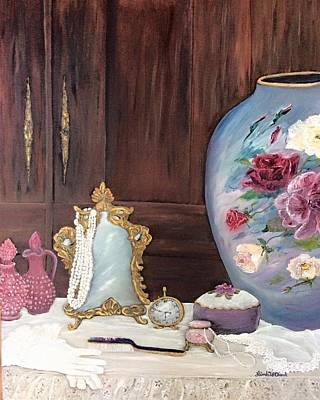 Painting - Pearls And Lace by Linda Clark