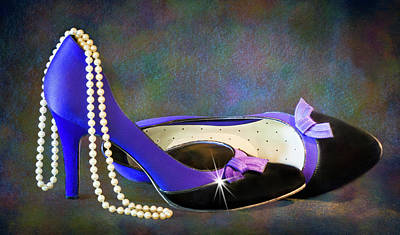 Photograph - Pearls And Purple Pumps by Patti Deters