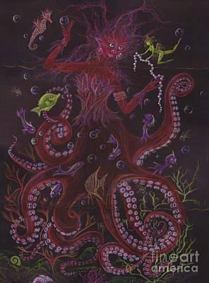 Clown Fish Drawing - Pearls by Dawn Fairies