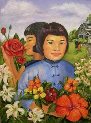 Pearl's Flowers Art Print by Aurelia Nieves-Callwood
