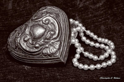 Photograph - Pearls From The Heart - Sepia by Christopher Holmes