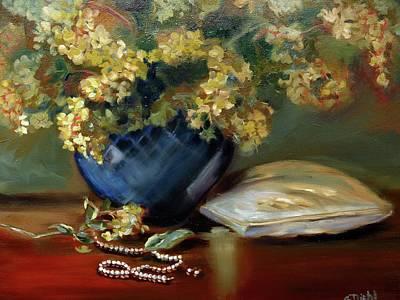Painting - Pearls by Grace Diehl