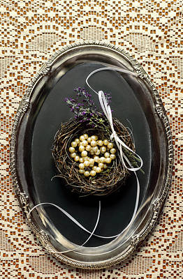 Photograph - Pearls In A Nest by Eleanor Caputo