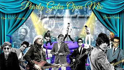 Mixed Media - Pearly Gates Open Mic  by Bill Oliver