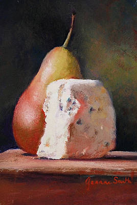 Pears And Gorgonzola Art Print by Jeanne Rosier Smith
