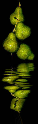 Still Life Royalty-Free and Rights-Managed Images - Pears and its reflection by Galeria Trompiz