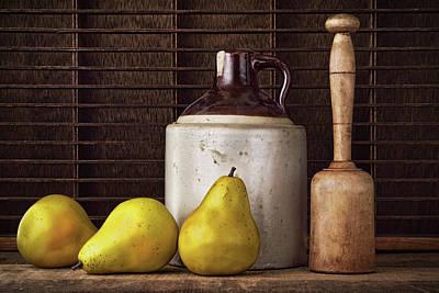 Pears And Jug Art Print by Vicki McLead