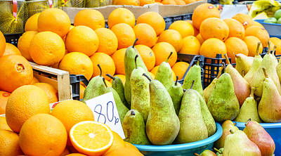 Photograph - Pears And Oranges by Alexey Stiop