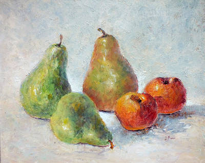 Painting - Pears And Peaches by Jill Musser