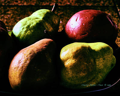 Digital Art - Pears by Charles Muhle