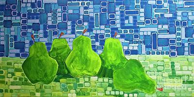 Painting - Pears by Donna Howard