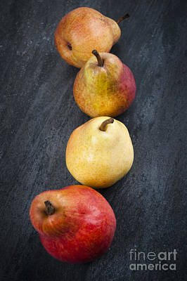 Still Life Royalty-Free and Rights-Managed Images - Pears from above by Elena Elisseeva